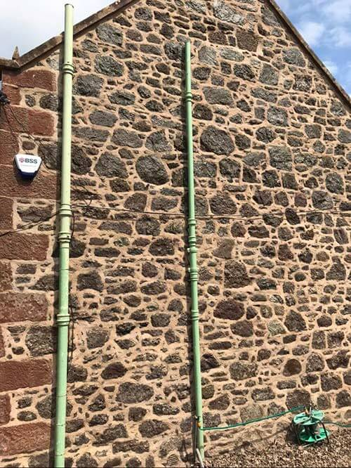 Traditional lime mortar pointing in Perth
